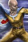 Saitama Sensei digital painting (One punch man)