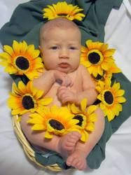 Flower Baby Portrait