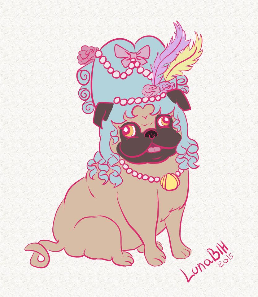 Rococo Pug by LunaBih