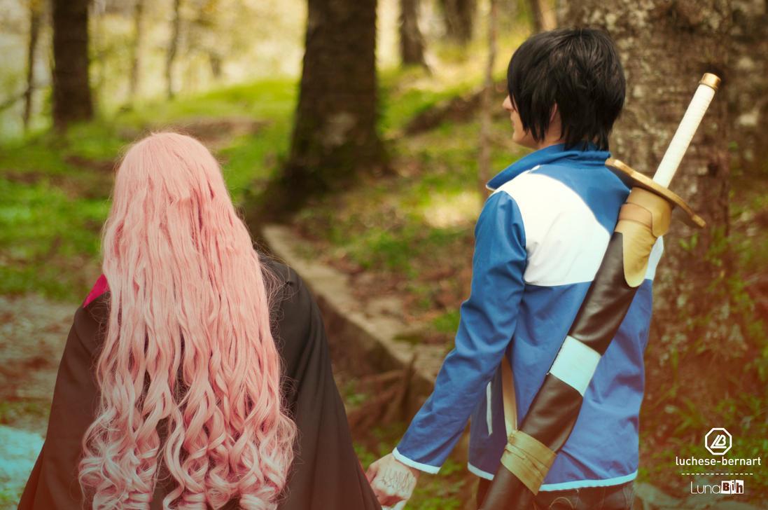 Louise and Saito by LunaBih