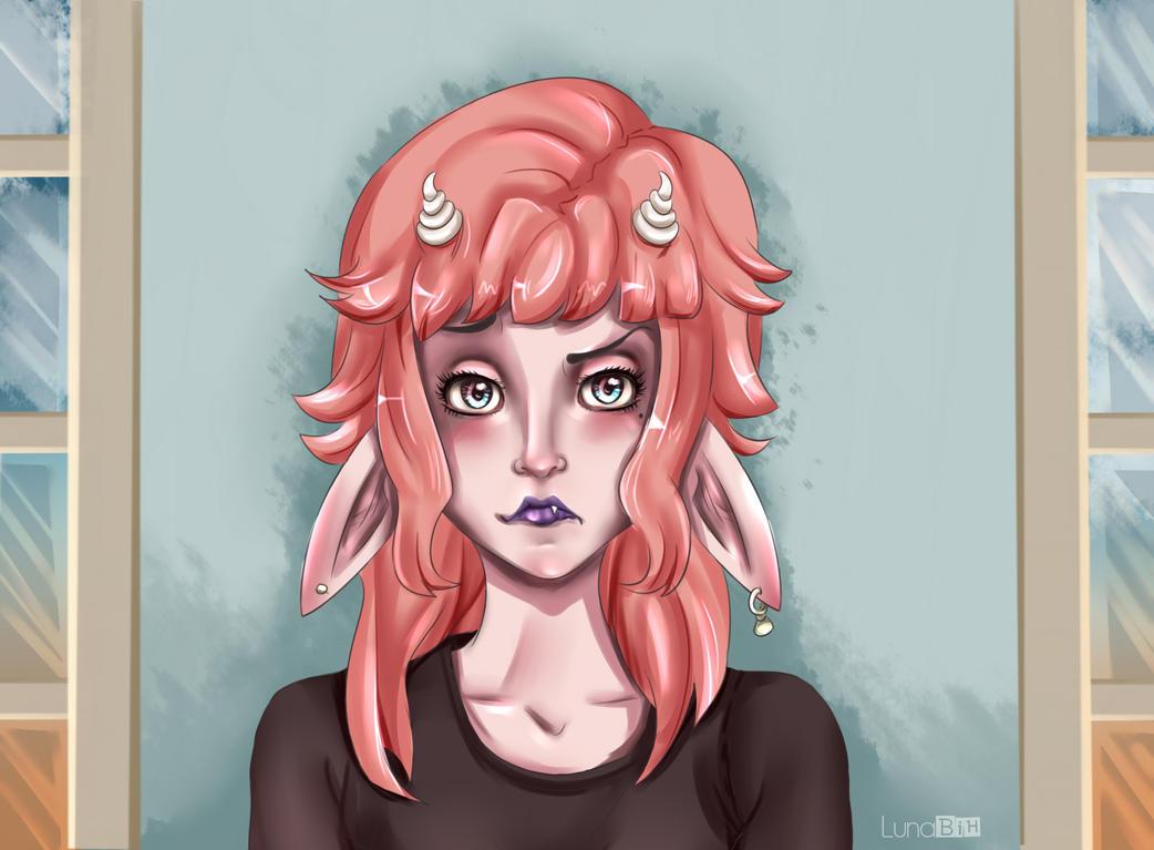 Harube angry by LunaBih