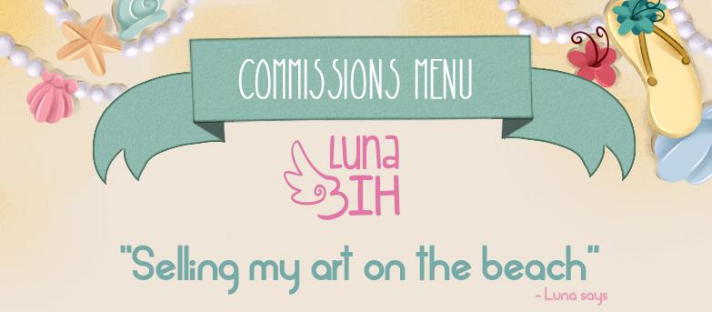Commissions Menu by LunaBih