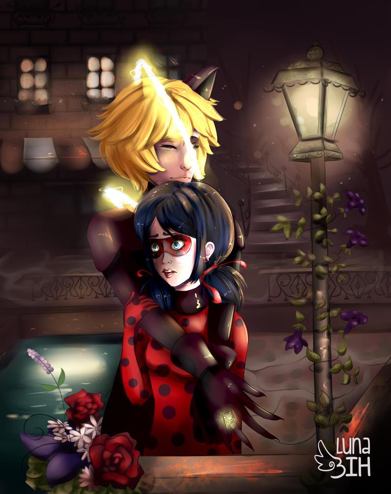 Adrien x Ladybug by LunaBih