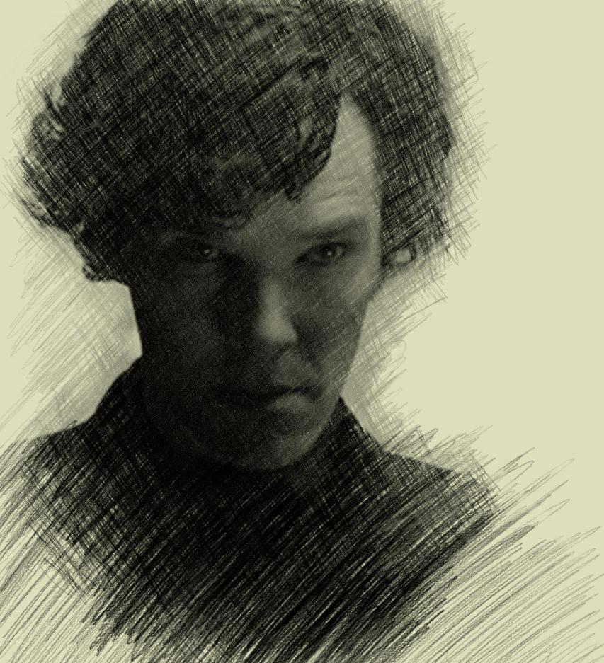 Sherlock 'graphite' portrait by Miagarrett