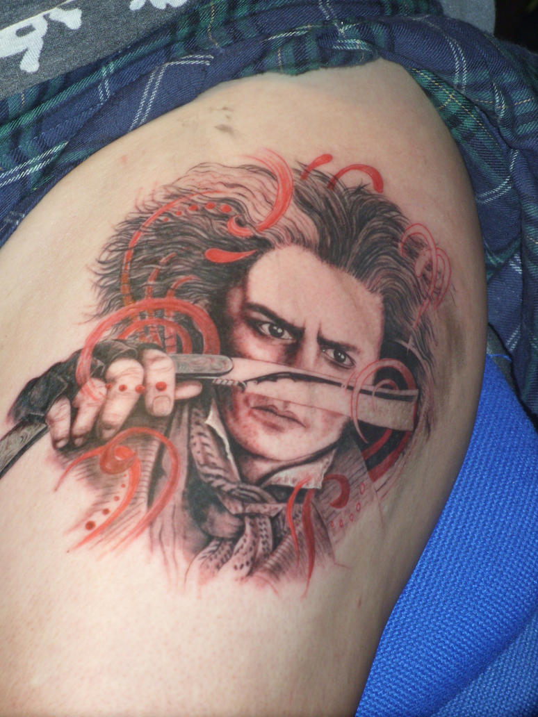 Johnny Depp tattoo by benhdv
