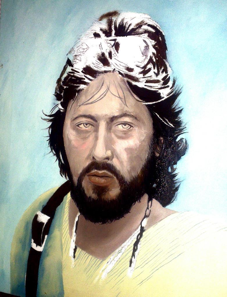 Al Pacino as Serpico Oil painting WIP by benhdv