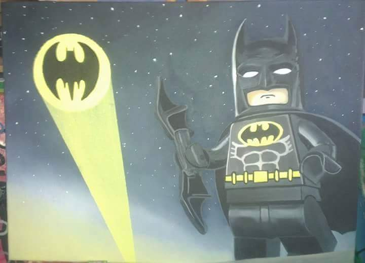 lego Batman oil painting by benhdv
