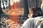 autumn sinks to fingertips. by pickaredballoon