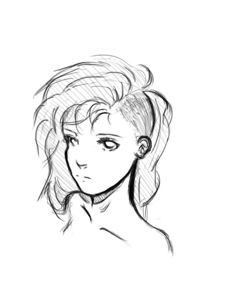 Anime Girl Undercut
