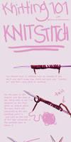 Knitting tutorial- Knit Stitch