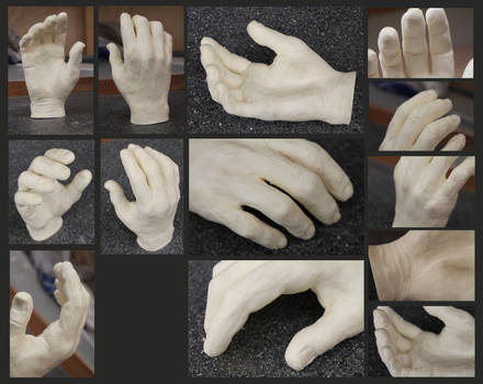 Hand study in Resin