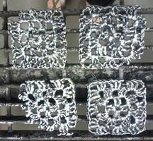 Granny Square Study in Aluminum