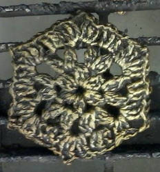 Crochet Hexagon study in aluminum