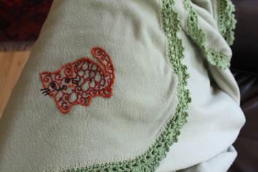 Orange Cat Embroidery