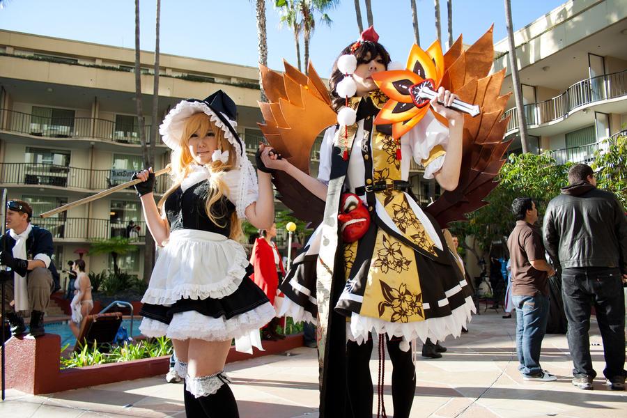 Marisa and Shameimaru by EriTesPhoto