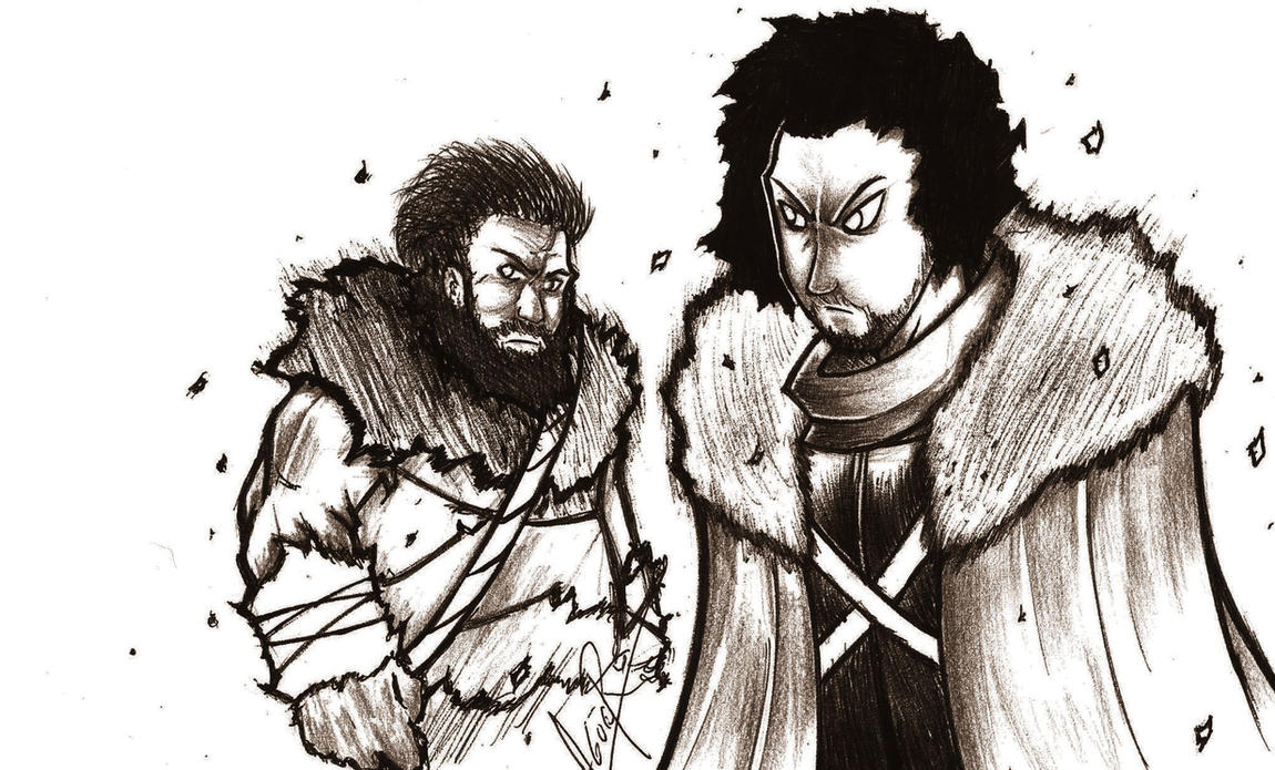 jon snow y Tormund by maximo22