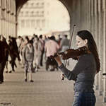The Violinist by Frank-Beer