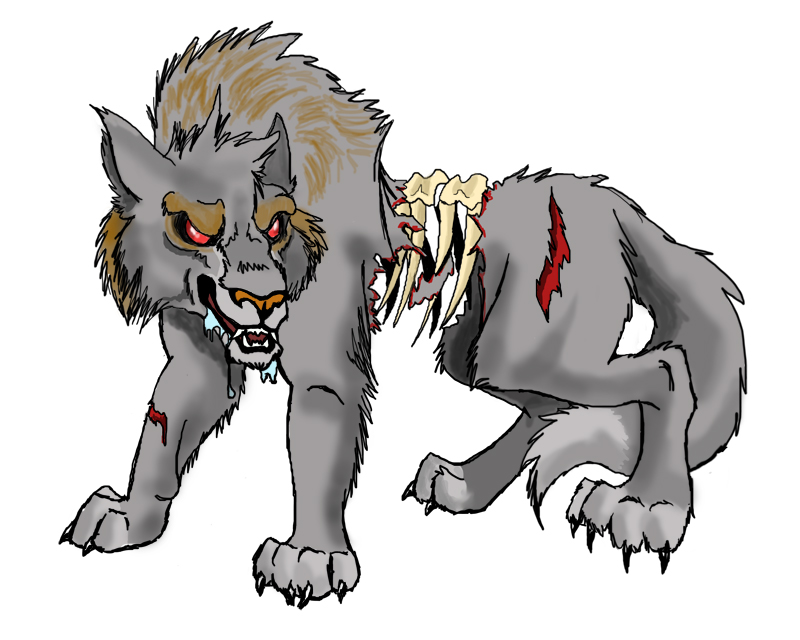 Zombie Wolf Drawing Zombie Wolf by NavinaZombie Wolf Drawing