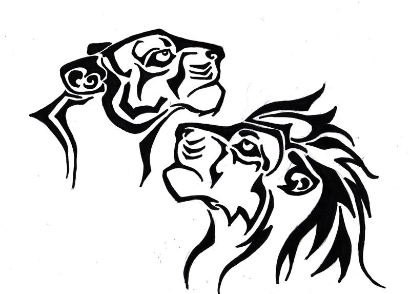 Line Art Lion : Lion tattoo design by navina on deviantart
