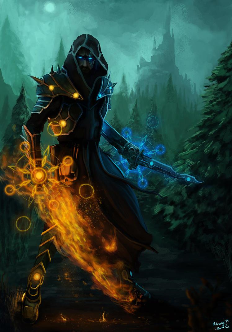 Elemental Warlock by Rhunyc