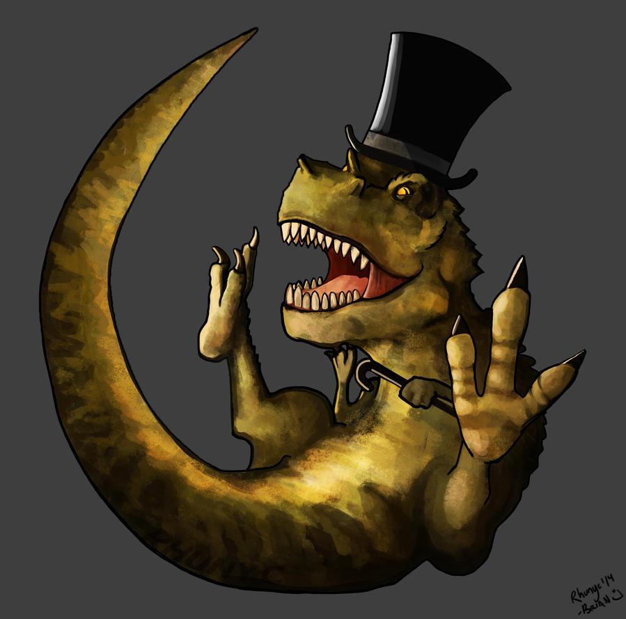 Classy Dinosaur by Rhunyc