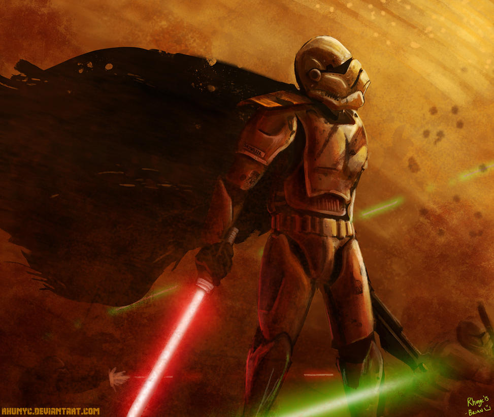 Anakin Skywalker, reporting for duty sir by Rhunyc