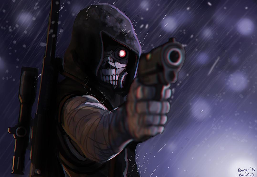 Commission: Death Gun by Rhunyc