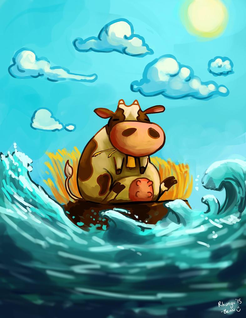 Cow by Rhunyc