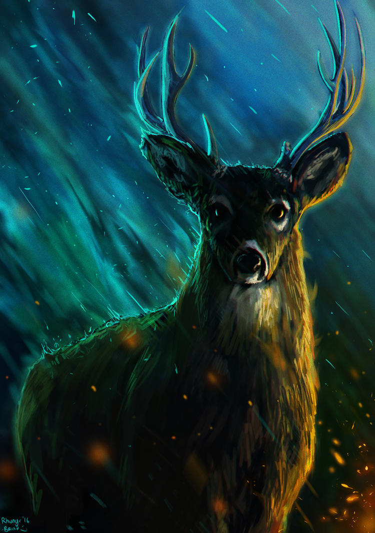 Trans-dimensional Deer of Space and Time by Rhunyc