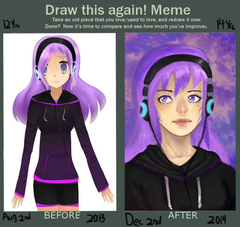 Draw this again- Old persona by StrawberryKittySwirl