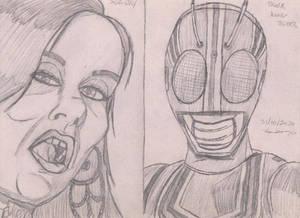 Sasha grey e Black Kamen raider