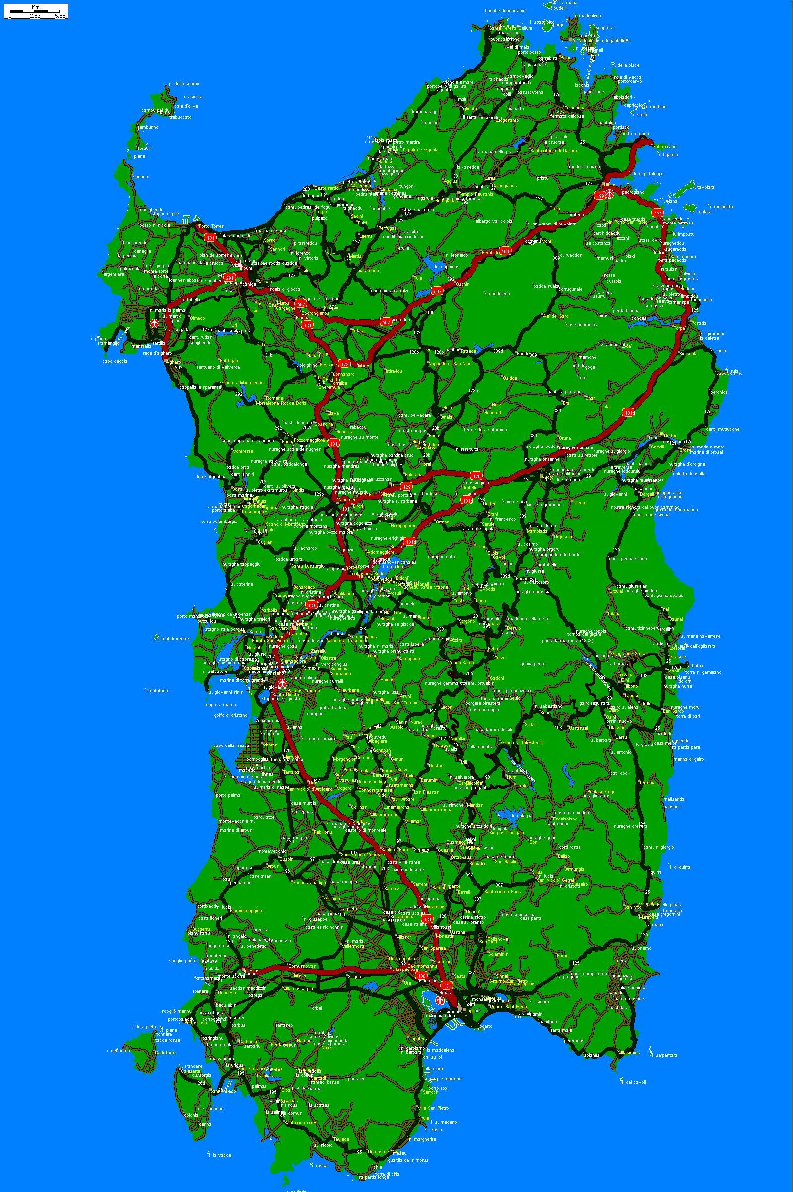 Cartina Sardegna Golfo Aranci.Cartina Della Sardegna By Sardegna On Deviantart
