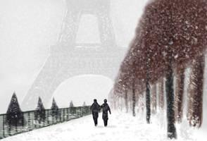 Paris in winter by Wugrash