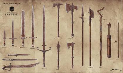 Skywind: Iron Weapon Set