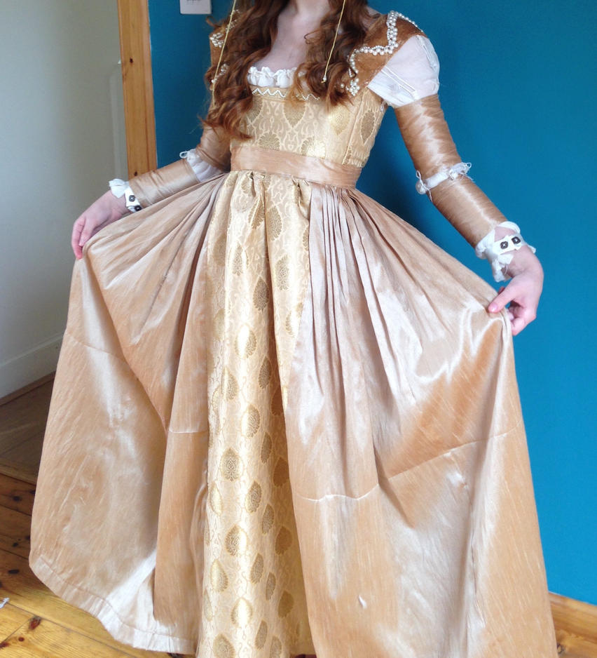 Gold Italian Renaissance dress skirt by AHobbitsArt on DeviantArt