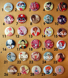 3' Buttons SPECIAL PRICE 1