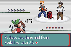 Mythbusters Pokemon battle...? by Akatsuki-waffles