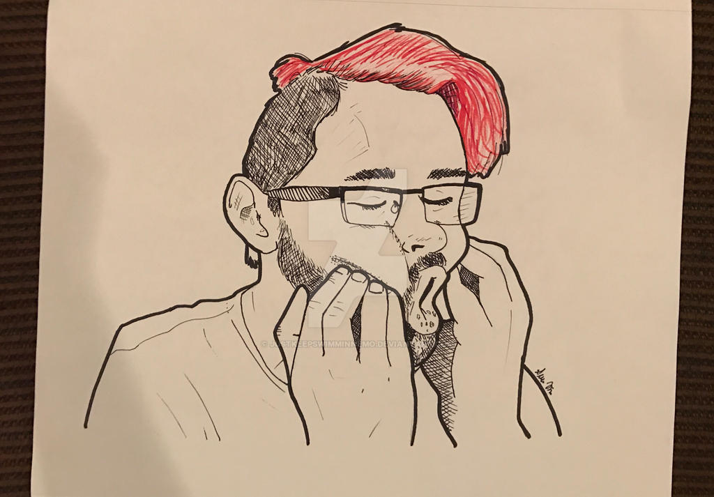 Markiplier Drawing by JustKeepSwimminNemo