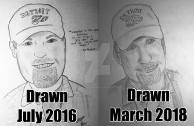 Drawing Rob Paulsen by JustKeepSwimminNemo