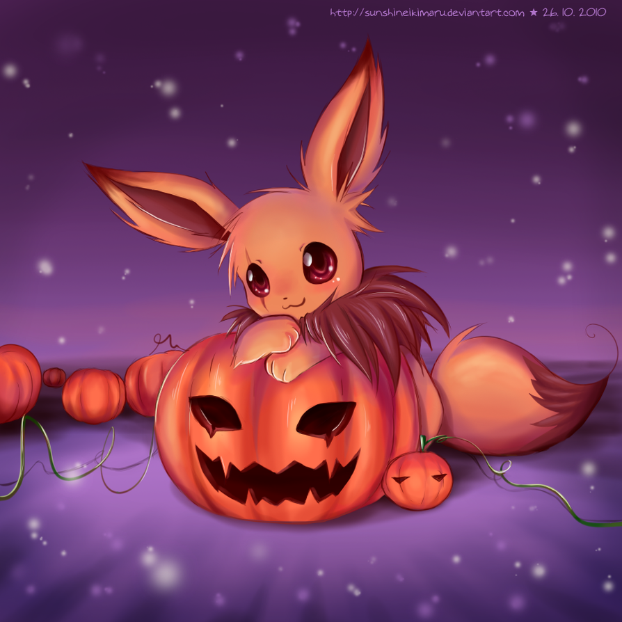 Great Wallpaper Halloween Eevee - eevee__s_pumpkin_field_by_sunshineikimaru-d31my9e  2018_198668.png