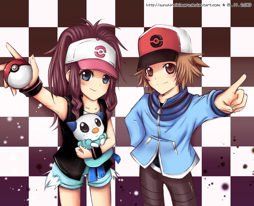 Touko and Touya by sunshineikimaru