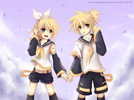 Rin and Len by sunshineikimaru