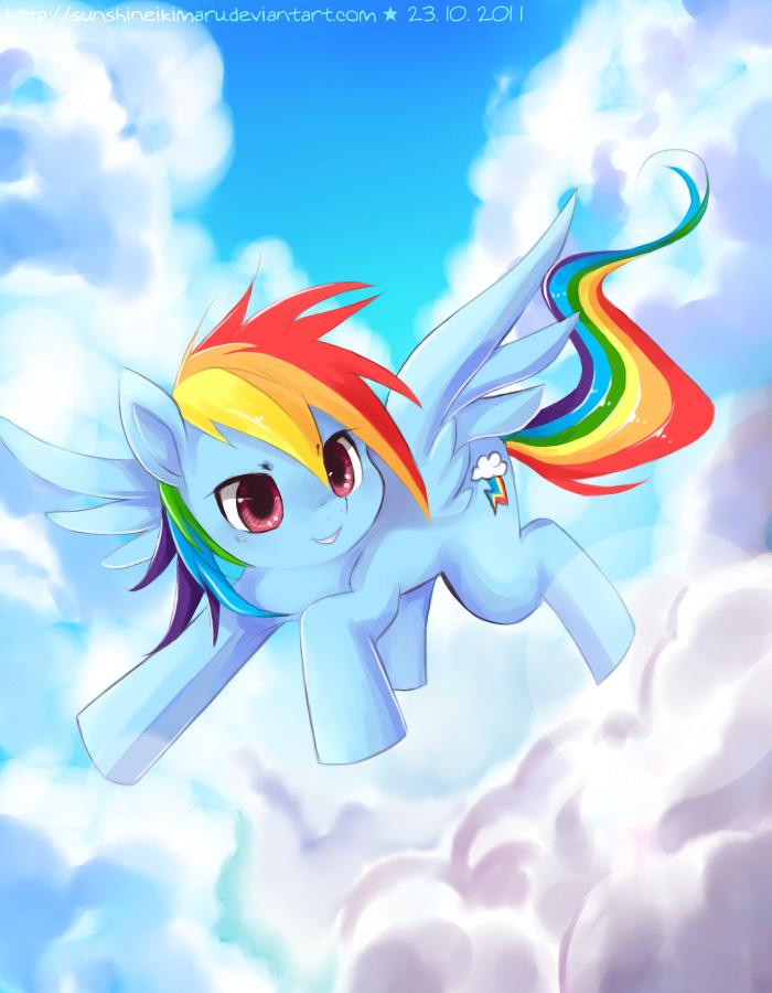 Rainbow Dash by sunshineikimaru