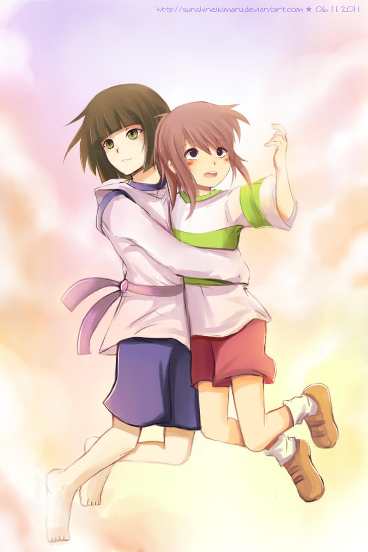 ... Up Spirited away :: falling by Spirited Away Haku And Chihiro Kiss