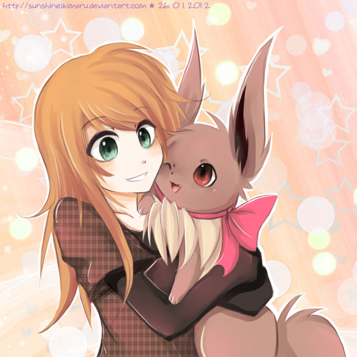 Shaina and Eevee by sunshineikimaru
