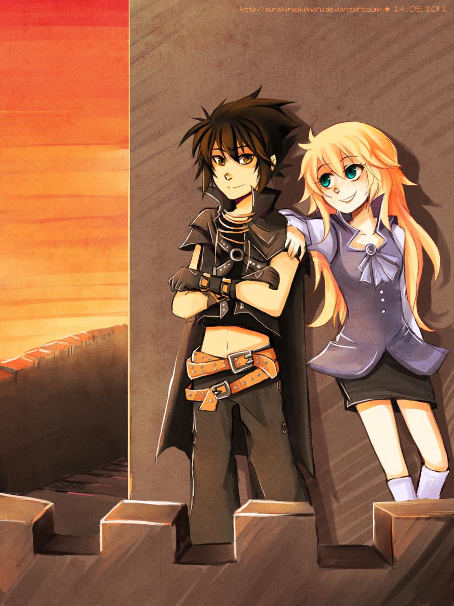 Wing and Luky by sunshineikimaru