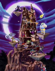 Udon Darkstalker Pixel Tower by misterpickles