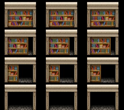 door|library|passage|Secret