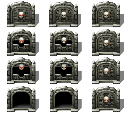 Stone Skull Gate - RPG TileSet Free Curated Assets for your