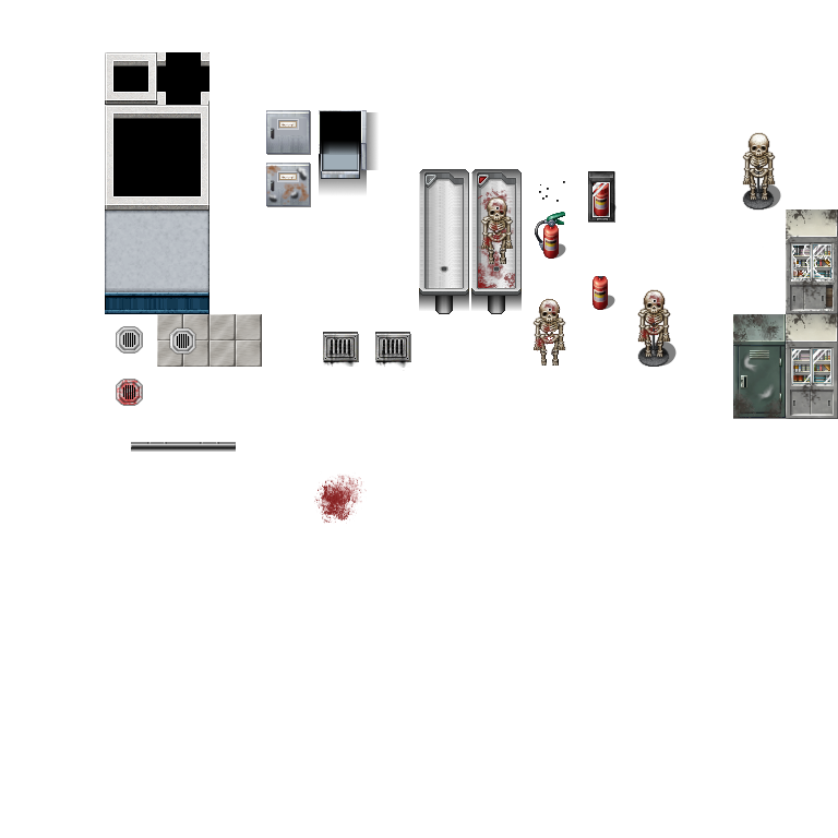 Horror Morgue - RPG TileSet Free Curated Assets for your RPG